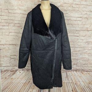 BB Dakota Keldon Faux Shearling Suede Coat Black